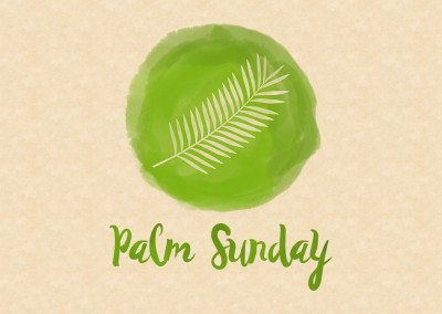 Watercolor Icon - Palm Sunday_4x3 Title Slide