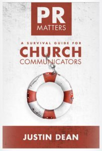 Church PR Matters Book - Justin Dean - cover image
